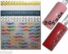 Nail Art Sticker Aufkleber Schablone AC29 Ornamente Design Farben zur Auswahl
