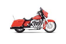 Rinehart 4 Inch Slip-on Mufflers Black With Black End Caps Harley Touring 95-16