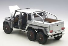 Autoart Mercedes-Benz G63 AMG 6x6 Plata Compuesto Modelo 1/18 Escala