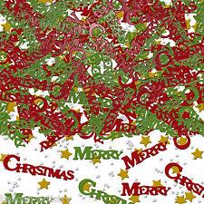 2x film métallique Joyeux Noël confettis paillettes de table