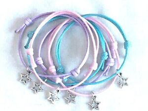 6 STAR FRIENDSHIP BRACELETS GALAXY SPACE PARTY BAG FILLERS FAVORS GIFTS