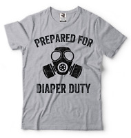 Gift For Dad Funny T-shirt Dad Maternity T-shirt Father Daddy Diaper Duty Shirt