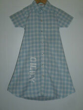 OILILY 7Y GIRLS LOVELY BLUE WHITE CHECK COTTON SHORT SLEEVE DRESS