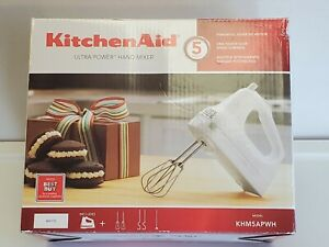 KitchenAid KHM5AP Ultra Power Hand Mixer white