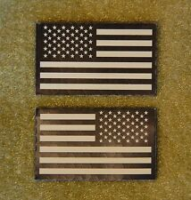 Mini Small US IR Flag Patch Set Tan & Black NSWDG CAG NSW DEVGRU SFOD-D Infrared