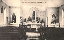 St Anthony Church Interior in Bessemer PA 1943