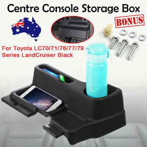 Centre Console Black Storage Box For Toyota LC70/71/76/77/79 Series Land Cruiser