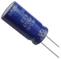 Condensateur électrolytique chimique 4700µF 63V THT 85°C 2000h Ø22x45mm radial