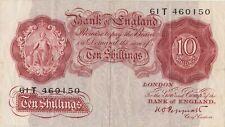 More details for b236 k.o.peppiatt 1934 ten shillings banknote 61t in very fine condition