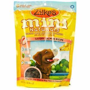 LM Zukes Mini Naturals Dog Treat - Savory Salmon Recipe 1 lb