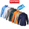 SALE! Hard Yakka Long Sleeve Cotton Drill Work Shirt Tradie Safety Button Y07500