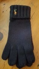 Polo Ralph Lauren Mens Navy Blue Knit Cuffed Wool Gloves Size O/S  NWT