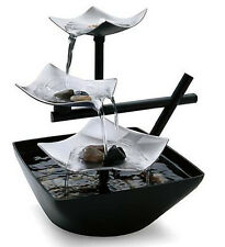 Fountain Relaxation Tabletop Water Indoor Waterfall Home Decor Table Rock Garden