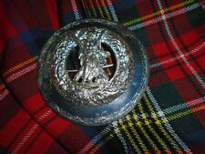More details for blackwatch  plaid brooch british army issue
