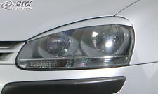 RDX fanali Pannelli VW Golf 5 sguardo birichino pannelli ciechi Spoiler Tuning