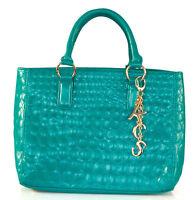 KS - Turquoise-BLUE quilted SHOPPER /handbag/ SHOULDER BAG - bnwt