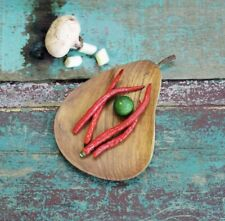 Wooden Apple Dish, Cheese Plate , Apple Fruit Bowl