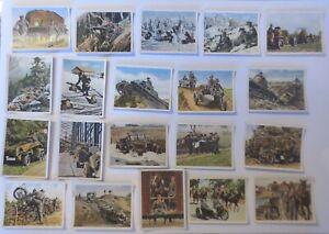 Deutsche Armee, Wehrmacht, 20 alte Sammelbilder ca. 40er Jahre ♥ (14476)
