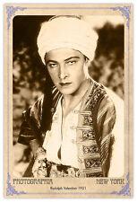 Silent Film Legend Rudolph Valentino Photograph A++ Reprint Cabinet Card