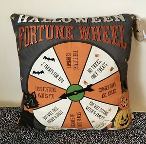 Vintage Style Halloween Wheel of Fortune Embroidered Cushion Tkmaxx