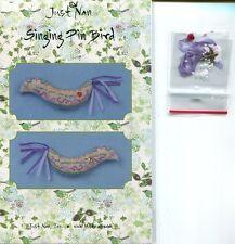 Just Nan: Singing Pin Bird w/Embellishments