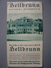Ancien dépliant touristique  Guide du Château de Hellbrunn Salzbourg Salzburg