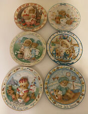 Lot Of Cherished Teddies Bear Collectible Plates Nursery Rhyme, Four Season +