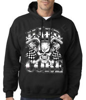 Velocitee Mens Hoodie Evil Joker Clown Face Circus A18008