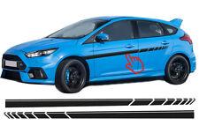 Ford Focus EVO Seitenstreifen Seitenaufkleber Rennstreifen Aufkleber Set