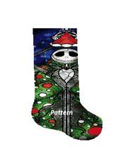 The Nightmare Before Christmas Christmas Stocking. Cross Stitch Pattern.