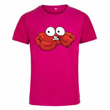 Funny Red Crab Printed Men's T-shirt Short Sleeve Round Neck Casual Tops Tee