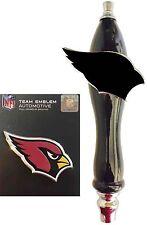 Arizona Cardinals Football Emblem & Beer Tap Handle for Kegerator Faucet KIT