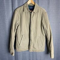 Polo Ralph Lauren Mens Size S Small Beige Harrington Bomber Jacket Plaid Lined