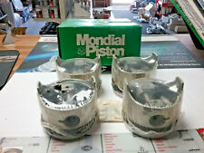 (NEW) MONDIAL ENGINE PISTON SET OF 4 7417 FITS- FIAT X19 74-78, 128 72-79 SOHC