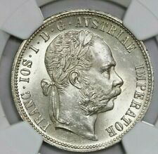 Austria, florin, Franz Joseph I, 1877, NGC MS 63. . Brightly lustrous