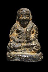 Genuine Nice Thai Amulet Old Rare Buddha Phra Talisman LP Ngern Wat Bang Khlan