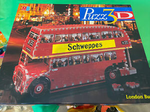 MB Puzz 3D Made Once Double Decker London Bus Jigsaw Puzzle, 387 Pieces