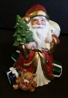 Fitz and Floyd OCI Omnibus Santa Claus Christmas Figurine Candle Holder 1992