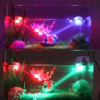 Fish Tank Aquarium LED Lighting Underwater Spotlight Marine Night Lamp