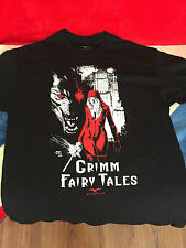 NEW GRIMM FAIRY TALES LIMITED EDITION T-SHIRT L BLACK WITH FRONT PRINT GFT BOX