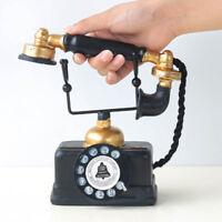 Vintage Telephone Statue Antique Shabby Old Phone Figurine Home Decor