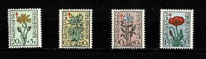 U0147 EAST GERMANY 1949 The struggle against tuberculosis - Flowers  MH