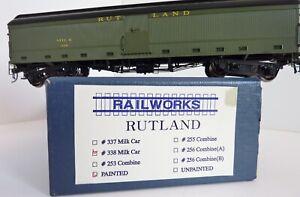 RUTLAND 338 Combine Milk Car Brass HO Railworks