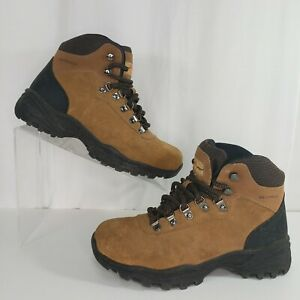 Earth Spirit Size 7 Hiking Boots Women's Stockholm Brown Suede Waterproof