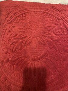 pottery barn velvet medallion EUC SHAM