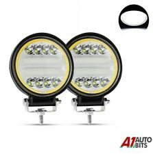 2x 72w Round Led 12v 24v Work Spot Flood Lights Lamps Off-Road Jeep Truck Boat