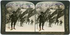 Stereo France, Alpes de Savoie, Ascension du Mont Blanc, 1908 Vintage stereo car