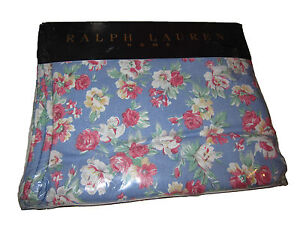 Rare Ralph Lauren Home Collection Hope Blue Floral Polo Twin Flat Sheet