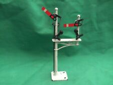 CRESCENT DIE CAST METAL DOUBLE HOME JUNCTION SIGNAL WITH LADDER IN V.G.C.