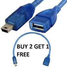 25 cm 5 Pin Mini USB B Male to USB A 2.0 Female Extension Cable- 1 YEAR WARRANTY